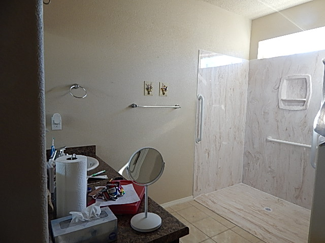 Consumer's bathroom after home modification